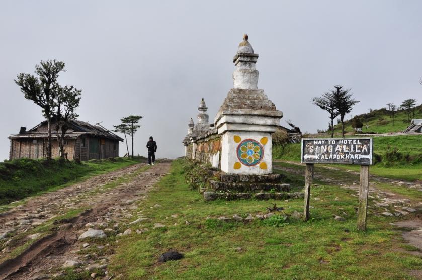 কালাপোখরির সিঙ্গালিলা হোটেলের পথ
